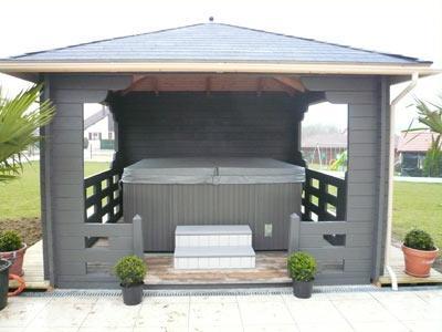 Vendeur de spas vosges installateur spas epinal - Sauna exterieur jardin moderne ...